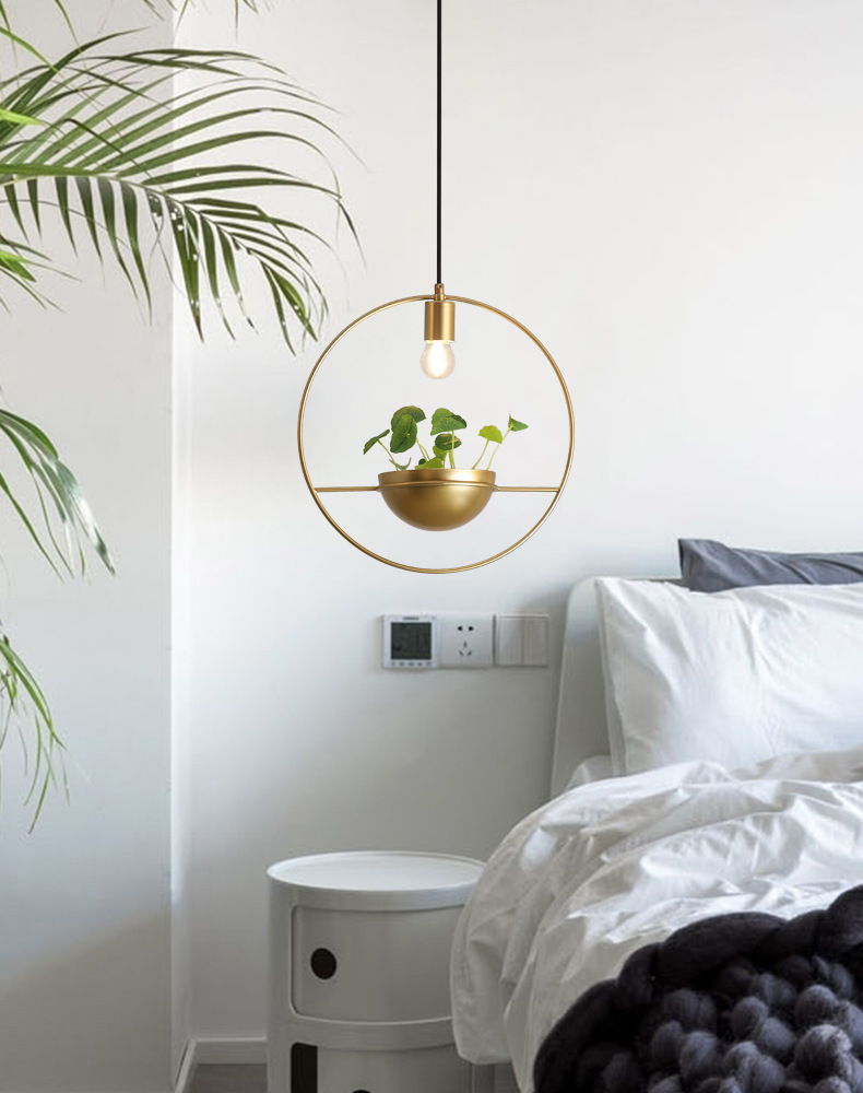 Simples Modern Led Lustre Varanda Plantas de