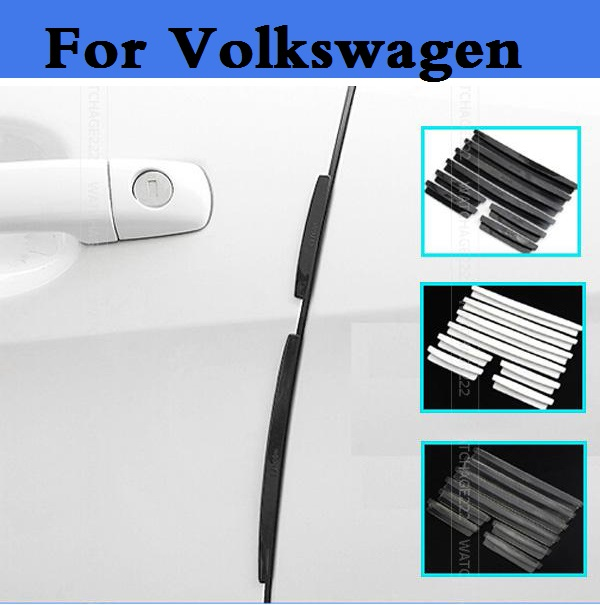 New Car Door Guard Edge Corner Bumper Buffer cover for Volkswagen Polo GTI Polo R WRC Scirocco Scirocco R Tiguan Touareg up XL1 waterproof rubber hk right hand steering wheel car floor mats for volkswagengolf 5 6 scirocco with gti tsi r r golf logo