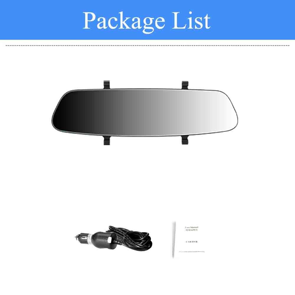 ADDKEY 7 дюймов Автомобильный видеорегистратор с сенсорным экраном камера 1080P двойной объектив Автомобильная камера s earview зеркало циклическая запись Автомобильный регистратор Dash cam - Название цвета: signle lens
