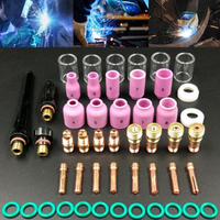 Durable TIG Welding Torch Stubby Tig Gas Lens #10 Pyrex Glass Cup Kit For WP 17/18/26 Welding Accessories