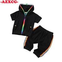 Boy Girls 1 2 3 4 5 6 Y Black White Clothhes Suit Baby Boy 2Pcs