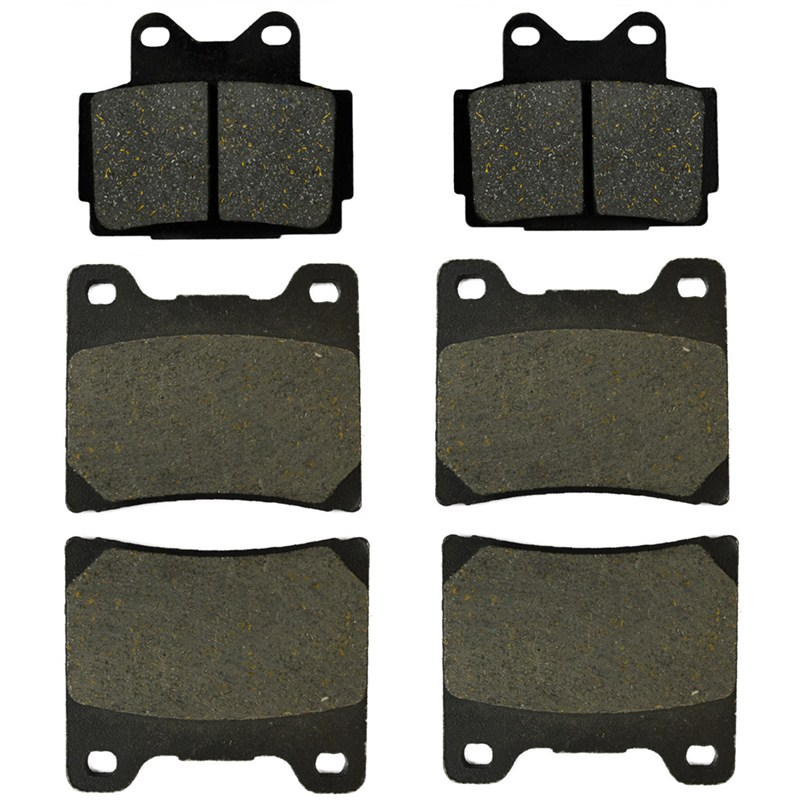 Motorcycle Front and Rear Brake Pads For Yamaha FZ400 FZ 400 N 1985 FZR400 FZR 400 Genesis 1986 FZ600 FZ 600 87-88 motorcycle front and rear brake pads for yamaha fzr 400 a fzr400a 1990 brake disc pad