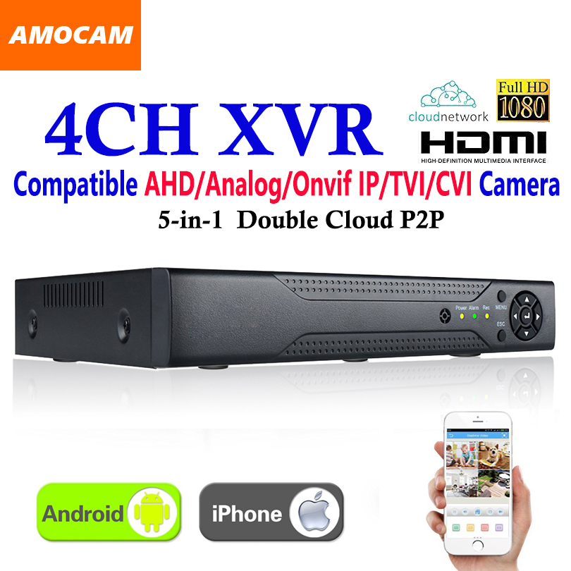 New CCTV 4Channel XVR Video Recorder All HD 1080P 4CH Super DVR Recording 5-in-1 support AHD/Analog/Onvif IP/TVI/CVI CameraNew CCTV 4Channel XVR Video Recorder All HD 1080P 4CH Super DVR Recording 5-in-1 support AHD/Analog/Onvif IP/TVI/CVI Camera