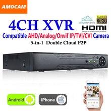 New CCTV 4Channel XVR Video Recorder All HD 1080P 4CH Super DVR Recording 5-in-1 support AHD/Analog/Onvif IP/TVI/CVI Camera