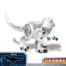 Jurassic World Park Dinosaurs White Mixed Tyrannosaurus Building Blocks Toys For Children Dinosaur blocks toy loz mini kids blocks jurassic world building blocks lot huge dinosaurs jurassic park christmas toys for children