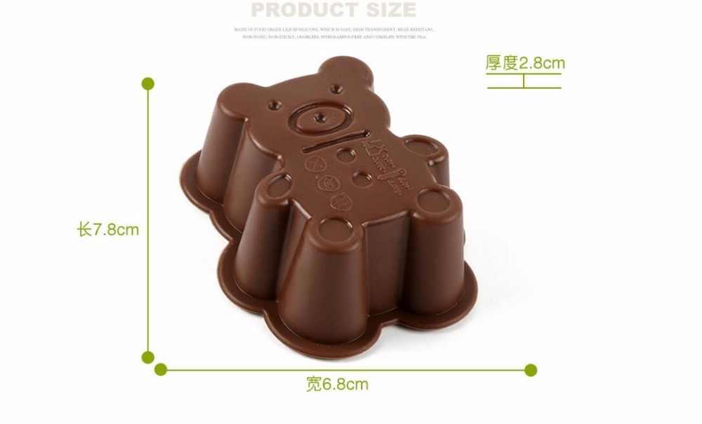 1 قطعة شكل الدب سيليكون كعكة فندان كعكة قوالب الشوكولاته قالب للمطبخ الخبز سيليكون الديكور شحن مجاني