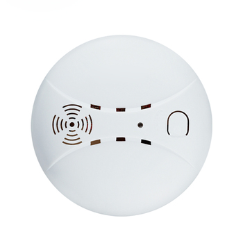 цена на 2PCS 433MHz Wireless Fire Sensor Protection Smoke Detector WIFI GSM PSTN office home security Alarm Systems