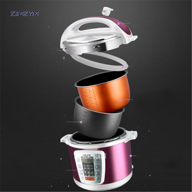 Multi-Use Smart booking Pressure slow cooking pot Cooker 900W Stainless Steel Electric Pressure Cooker Y502S 5L dual-gallon rice 3