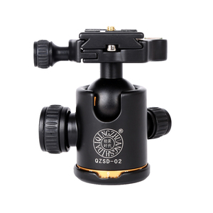 Image 1 - QZSD Q02 Aluminum Panoramic Ballhead with Quick Release Plate Pro Camera Tripod Max load to 15kg for Camera Tripod Monopod