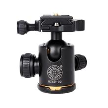 Qzsd Q02 الألومنيوم ballhead مع الإفراج السريع لوحة بانورامية برو كاميرا ترايبود الحمولة القصوى إلى 15 كيلوجرام للكاميرا ترايبود monopod