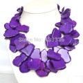 Purple Stone Necklace, Chunky Necklace, Fashion Necklace