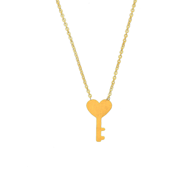 Romantic love heart key necklace pendant gold valentine day gift romantic love heart key necklace pendant gold valentine day gift stainless steel chain collier bijoux christmas mozeypictures Choice Image
