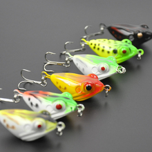 Lots of 6pcs 4cm 6g Hard Lures Frog Baits 8# Hook Mixed Colors Fishing Tackles
