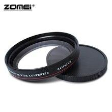 ZOMEI lente de filtro gran angular para cámara Nikon Canon SLR, Ultra delgada, UV72, 40,5mm, 49mm, 52mm, 55mm, 58mm, 62mm, 67mm, 72mm, 77mm, 0.45x