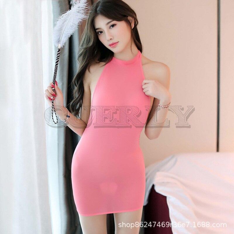 Mignon 2019 nouvelles femmes Sexy robe mode dos nu robes courtes sans bretelles Clubwear couleur bonbon été Style fête vêtements