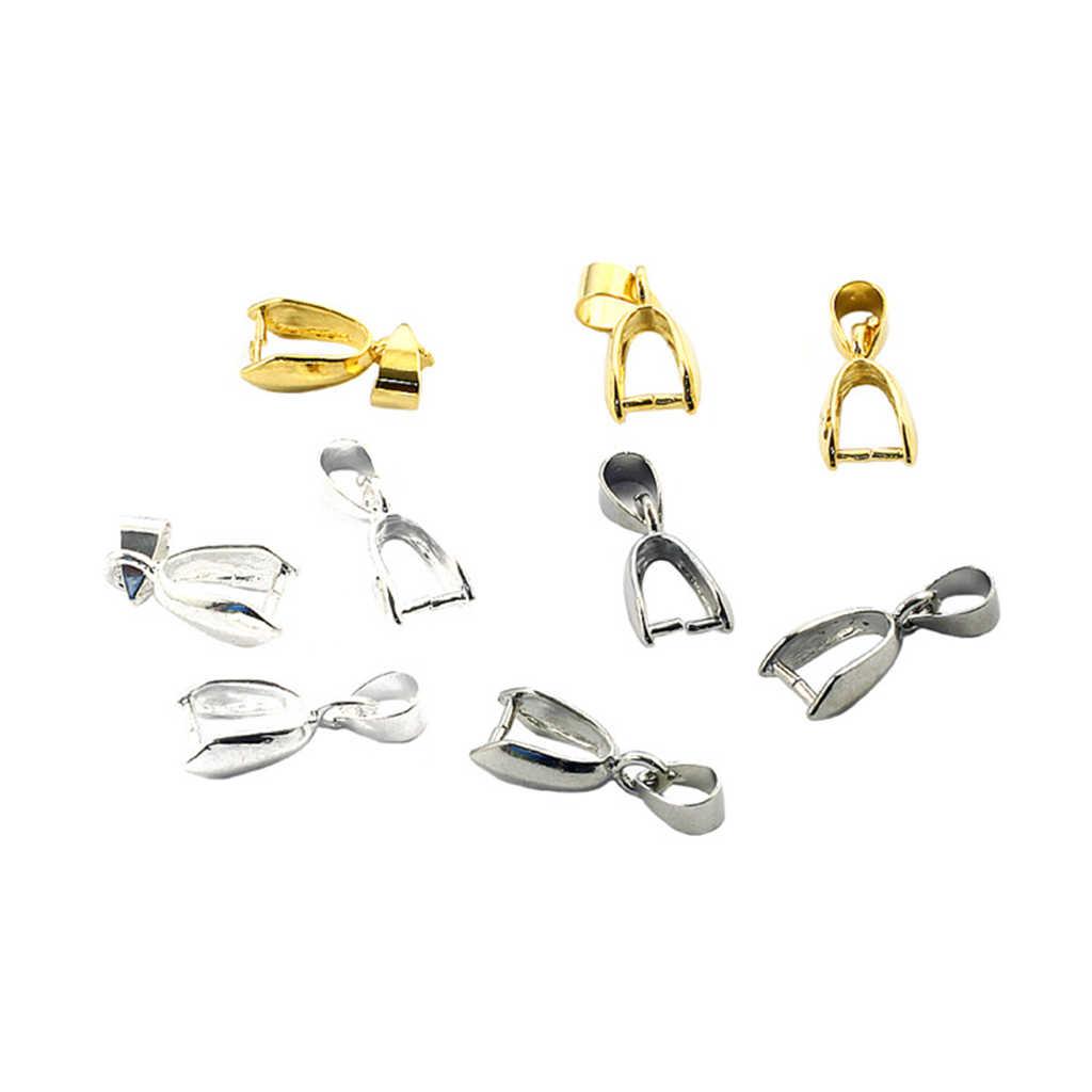 10 قطعة قلادة مشبك صنع المجوهرات قلادة Charms Buckles بها بنفسك حجر لوازم المفاجئة المشبك المشترك اكسسوارات D14_A