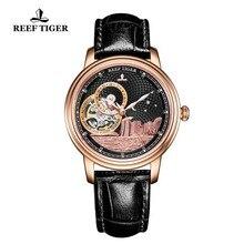 Риф Тигр/RT Элитный бренд женские дизайнерские часы для мужчин классические, автоматические часы сапфировое стекло Роза золотые наручные часы RGA1739
