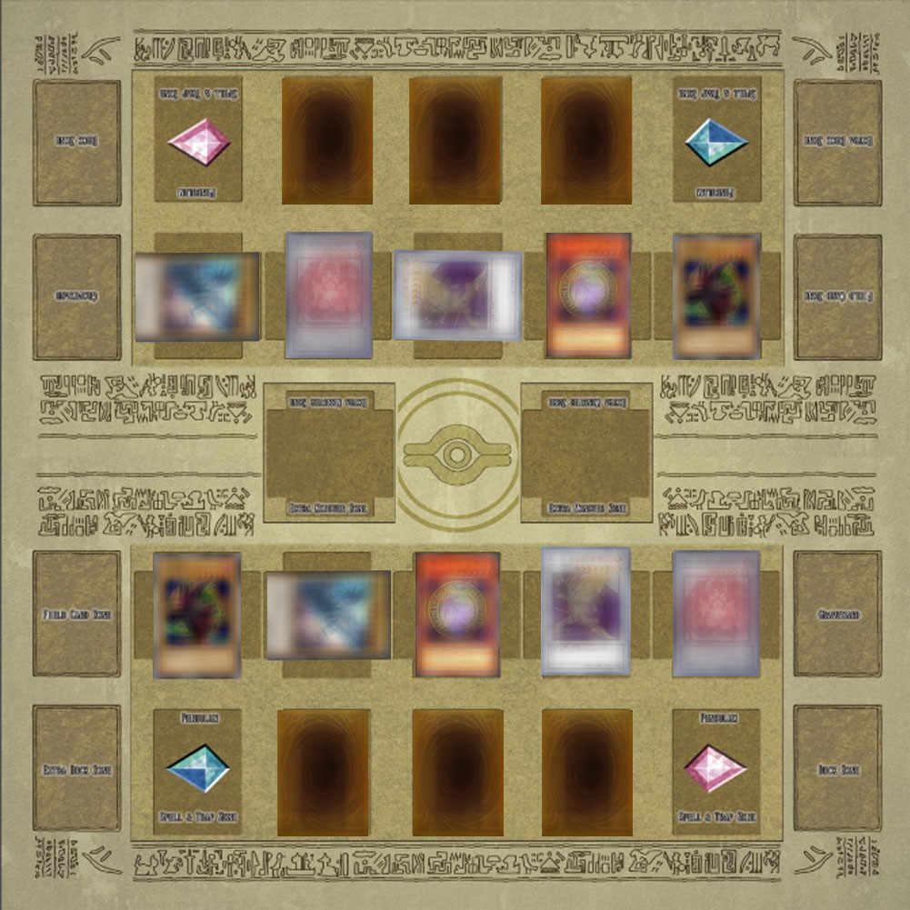 Estera de juego de rompecabezas eva de espuma de bebé alfombra de juego de goma 60x60 cm estilo de galaxia almohadilla de competición para Yu -gi-oh tarjeta juguetes educativos