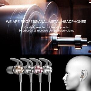 Image 2 - Duszake Q1 ためxiaomiイヤホンステレオ低音ヘッドフォン電話有線電話金属ヘッドフォンマイクサムスン