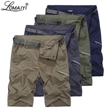 LOMAIYI Cargo Shorts Men Breathable Quick Dry Short Mens Army Green/Khaki Summer Casual For Man Travel AM385