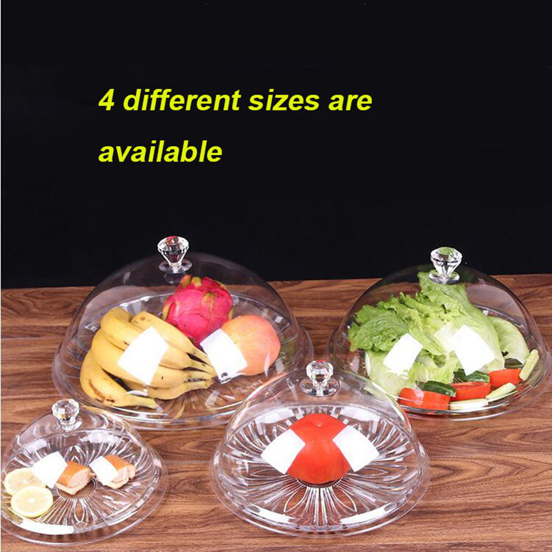 Acrylic Fresh Food Cover Highly Transparent Snack Displays Domes Cake Covers