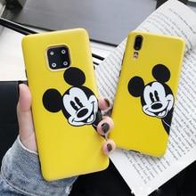 Minnie Mickey yellow matte Soft TPU Case for P30 pro Cover P20 P10 mate10 nova3i 2s p10pro mate20 nova4 p30p case capa