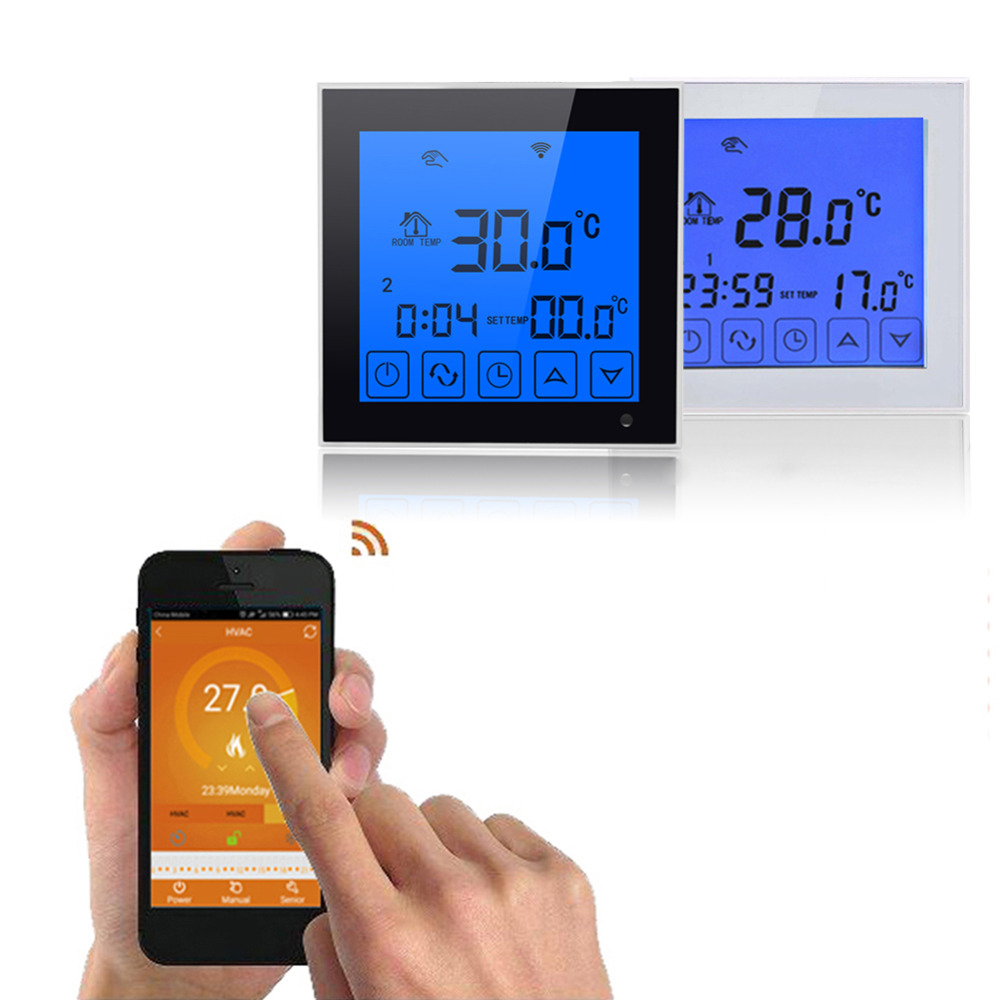Wifi LCD Digital Display Touch Screen Smart Temperature Thermostat Wireless Room Underfloor Heating Controller Thermoregulator Wifi LCD Digital Display Touch Screen Smart Temperature Thermostat Wireless Room Underfloor Heating Controller Thermoregulator