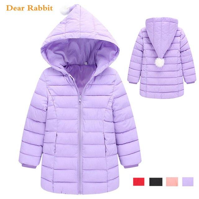 Новинка 2018 года, весенние теплые хлопковые куртки и пальто для девочек возрастом от 1 года до 8 лет, осенне-зимний пуховик для маленьких детей, детская верхняя одежда