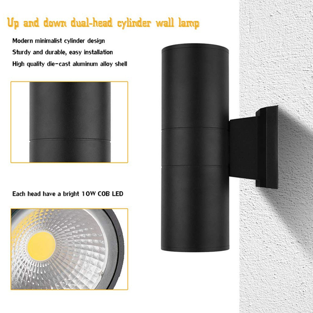 6W 10W double Led wall lamp Aluminum indoor outdoor waterproof wall lights for corridor house hotel wall sconce decoration lamp in LED Indoor Wall Lamps from Lights Lighting