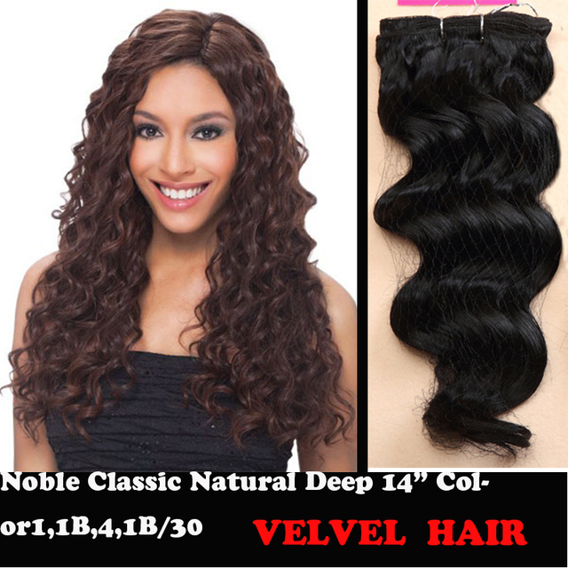"""1PC+Fast Shipping Premium Quality Noble Classic Natural Deep Wave Synthetic Hair Extensions 14"""" #1 1B/30 Kanekaon Fiber Hair"""