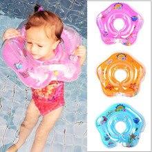 Плавания детские бассейны Аксессуары для младенцев Детские круг для плавания на шею трубка с кольцом для обеспечения безопасности ребенка надувное кольцо для купания круг для плавания