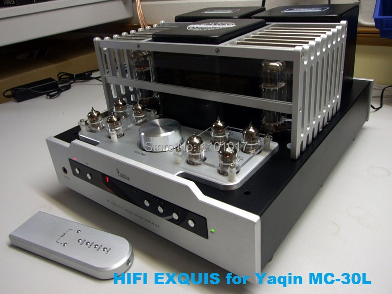 YAQIN MC-30L EL34 Push-Pull Tube Amplifier HIFI EXQUIS 6CA7 Lamp Integrated Amp with Headphone Output Remote MS-20L