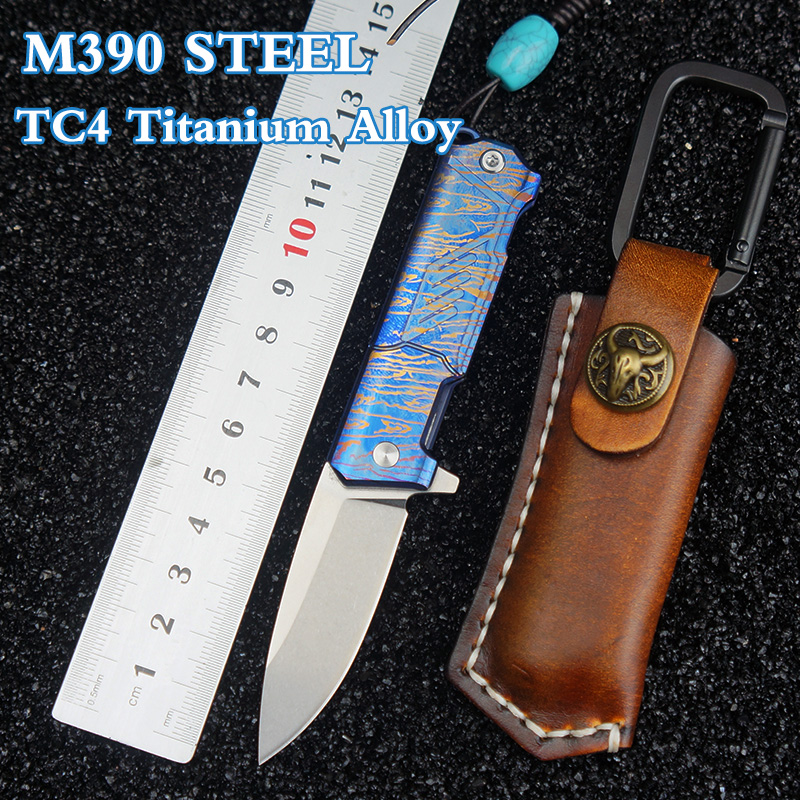 M390 Steel Tactical Folding knife M390 Blade camping survival outdoor folding blade EDC tools pocket knives
