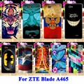 Soft TPU Silicon Cases For ZTE Blade A465 A 465 Phone Covers Tiger Captain American Batman Painted Shell Hood Skin Rubber Shell