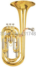 3 Pistons Baritone in Bb Tone With Foambody case and mouthpiece Brass instruments Factory supply