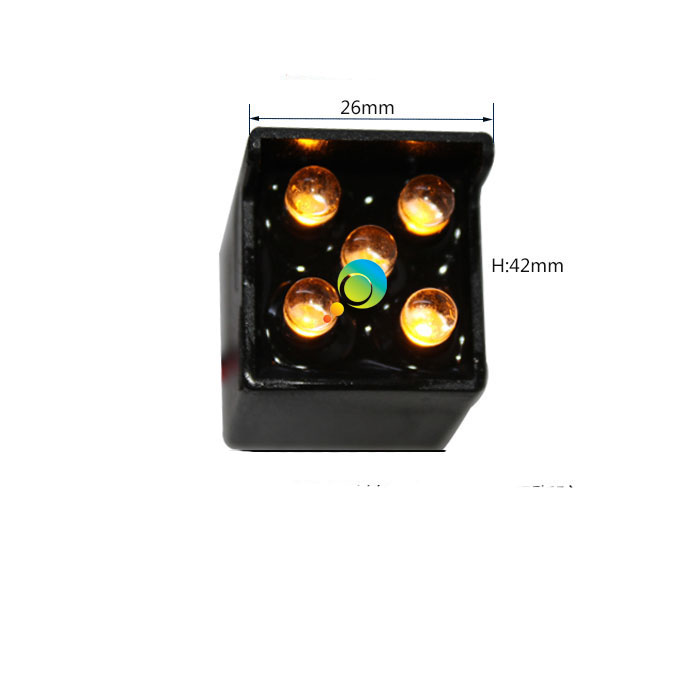 26mm Yellow color Epistar LED arrow board parts LED pixel cluster traffic signal light