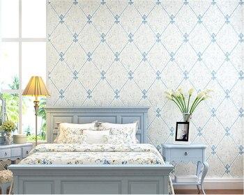 Beibehang Soft suitcase European suede 3d wallpaper living room bedroom sofa TV background wallpaper for walls 3 d papier peint