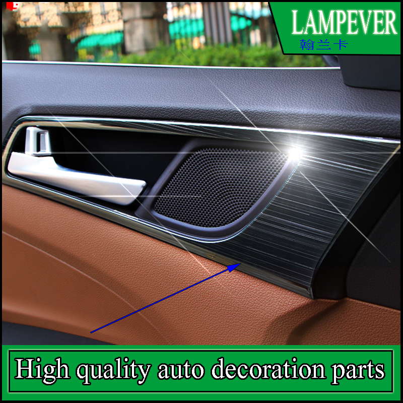 Car styling Door Handle Bowl Cover Covers Interior Decoration Stainless Steel Trim For Hyundai Tucson 3th 2015 2016 Accessories