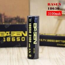2 шт высокое сливное BASEN 18650 3100 mah 3,7 V 40A батарея черный профессиональный электронная сигарета питания литиевые батареи