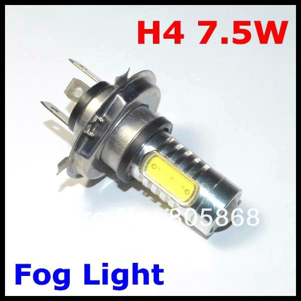 H4 7.5W Fog Light High Power Cars H4 LED Car Light Bulb Lamp Headlight White Led Bulb 12V Auto Parking Car Styling FREE SHIPPING