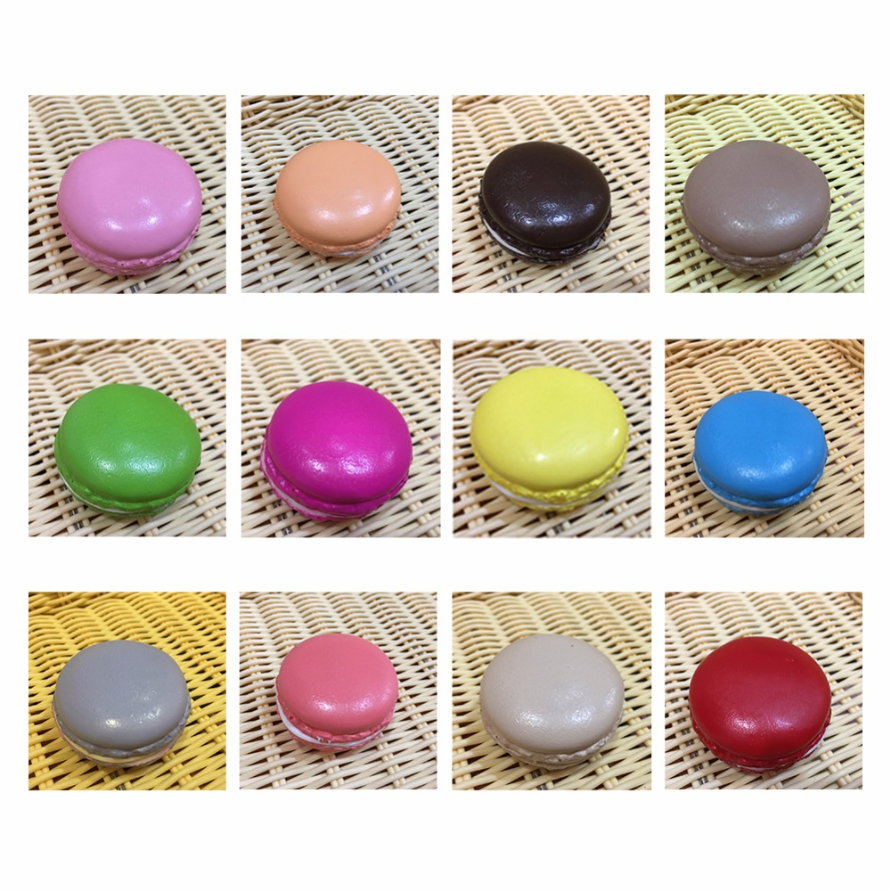 2018 hot stress relax Simulation macarons Cookies Model Fake French macaron Cake Dessert Simulation Decoration Display props