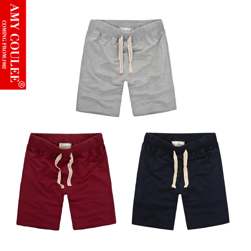 Gray Navy Wine 3 In 1 Set Shorts Solid Color Classic 100%Cotton Stylish High Quality Breathable Casual Pure Men Women Style Cool