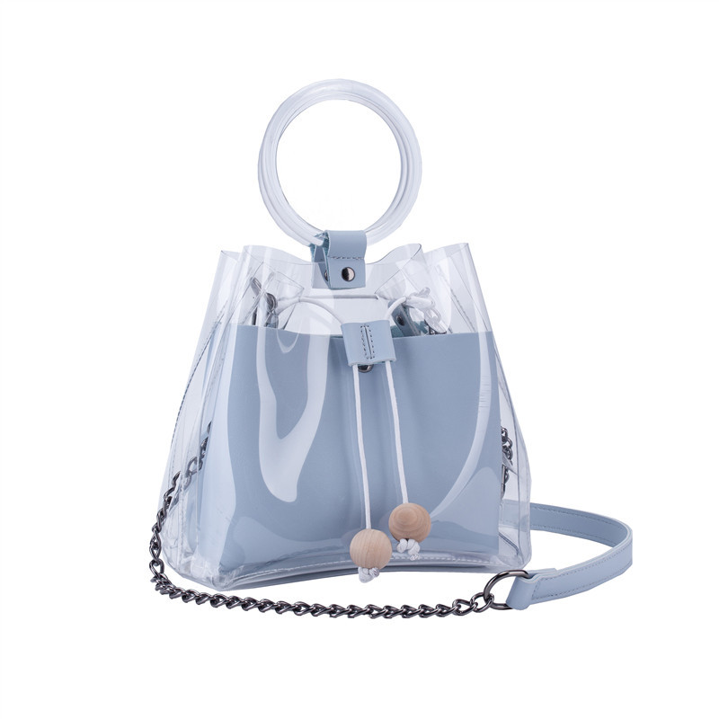 Crossbody Bags For Women 2019 Korean Style Fashion Messenger Transparent Chain Jelly Bag High Quality Ring Handbag Shoulder Bag алиэкспресс сумка прозрачная