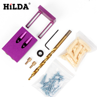 Pocket Hole Jig Kit System For Wood Working Joinery Step Drill Bit Accessories Wood Work Tool