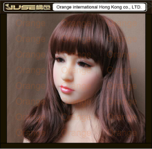 Top quality Japanese lifelike doll head for real love doll, silicone soft oral sex doll head, life size sexy toys for men,HD-011