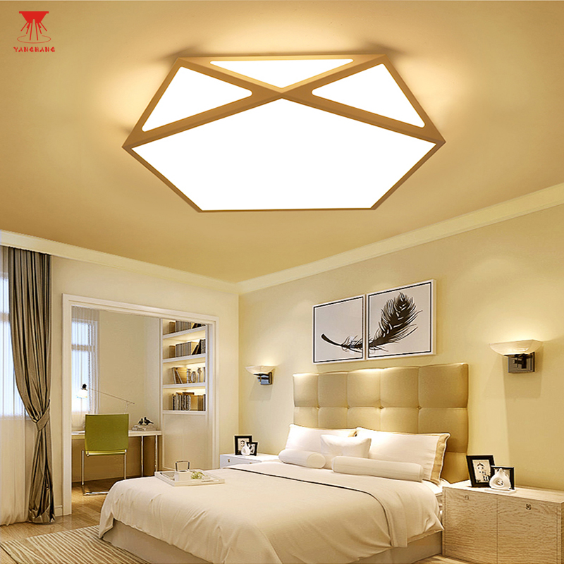 Black White Modern Nordic Minimalism LED Ceiling Lamp Art Creative Geometrical Ceiling Light For Bedroom Living Room noosion modern led ceiling lamp for bedroom room black and white color with crystal plafon techo iluminacion lustre de plafond