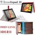 Mediapad 10 Стенд Кожаный Чехол Для Huawei mediapad 10 FHD & LINK CROCO кожаный чехол чехол с слот для карт, подарок Защитные пленки