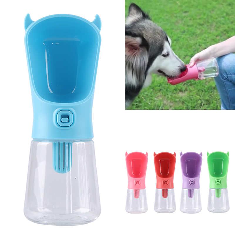350 ml Garrafa de Água Do Curso Do Cão Dispensador Com Filtro De Carbono Plástico Alimentador de Água Potável Ao Ar Livre Portátil do animal de Estimação Do Gato Do Cão do Filhote de Cachorro tigela