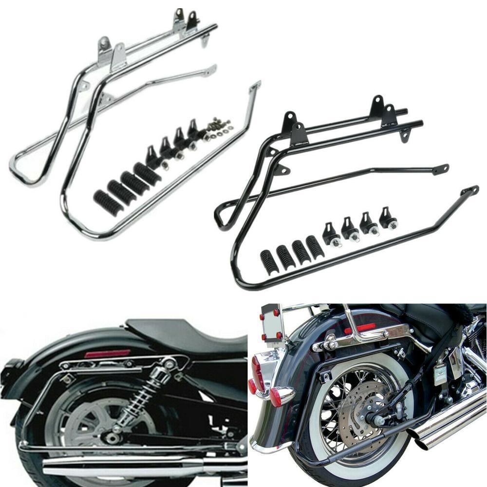 Saddlebag Saddle bag Conversion Brackets For Harley Softail Springer 1984-2013