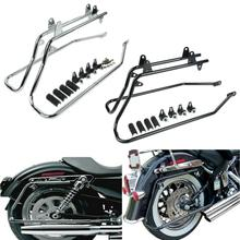 Motorcycle Hard Saddlebag Conversion Brackets For Harley Heritage Springer FLSTS Softail 84-13 w/ Hardware